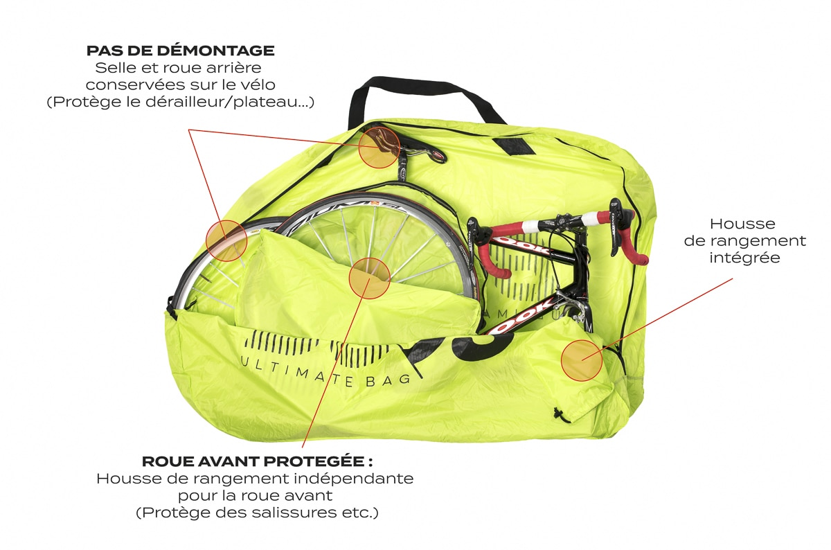 Housse v lo roadbag light buds sports for Housse de velo intersport