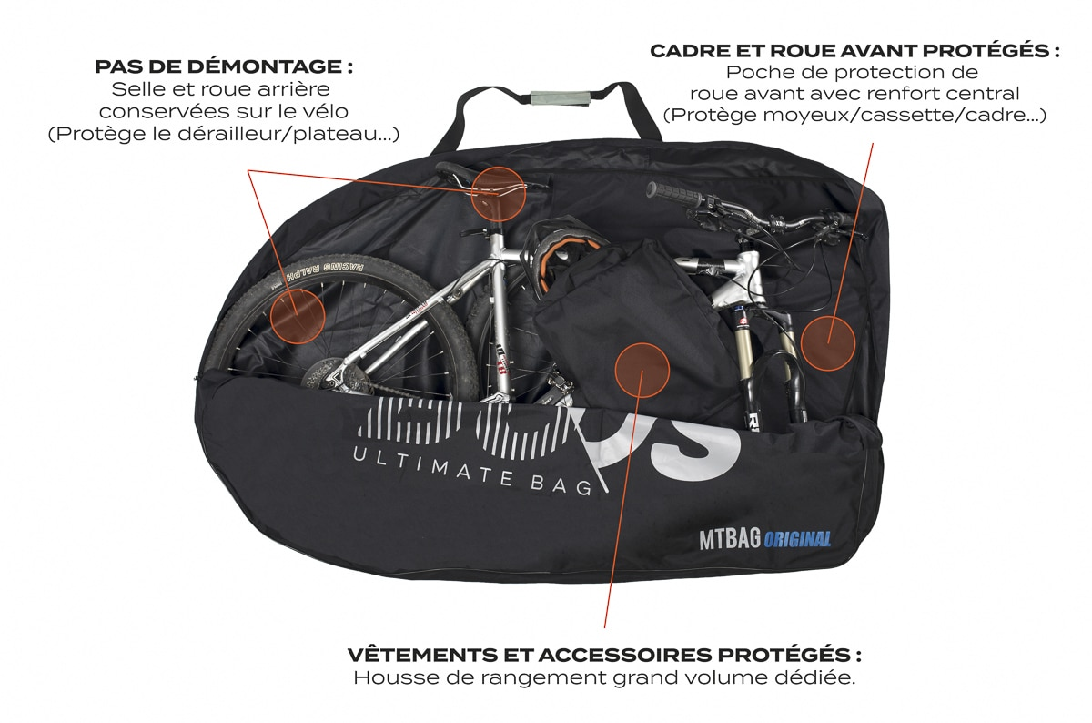 Housse transport vtt ouverte texte buds sports mtbag for Housse vtt transport