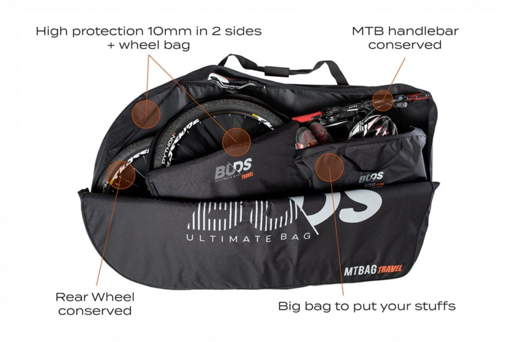 housse transport vélo MTBag Travel de Buds
